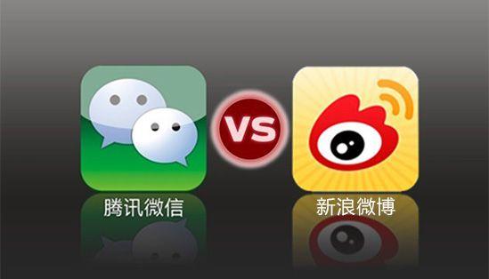 腾讯微信VS新浪微博